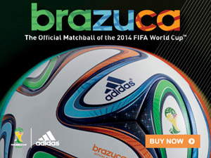 adidas Brazuca World Cup 2014 Official Match Soccer Ball