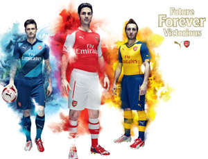 Puma Arsenal Soccer Gear 2014/15