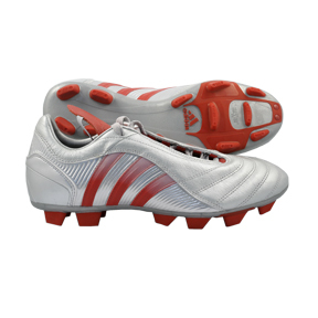 adidas Predator Pulsion TRX FG Soccer Shoes (Silver/Red)