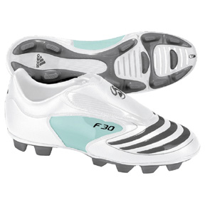 adidas Womens F30.8 TRX FG Soccer Shoes (White/Iron Grey)