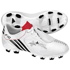 adidas Youth F10i TRX FG Soccer Shoes (White/Black/Red)