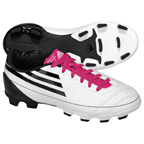 adidas Youth F5 TRX FG Soccer Shoes (White/Pink)
