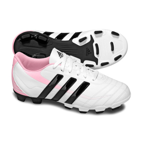 adidas Youth Ezeiro TRX FG Soccer Shoes (White/Black/Pink)