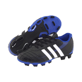 adidas Youth Ezeiro TRX FG Soccer Shoes (Black/White/Blue)