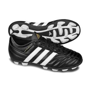 adidas Youth AdiQuestra TRX HG Soccer Shoes (Black/White/Gold)