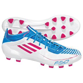 adidas  F50 adiZero TRX HG Soccer Shoes (White/Pink)