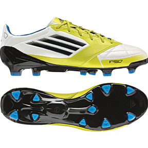 adidas  F50 adiZero Leather TRX FG Soccer Shoes (Lime)