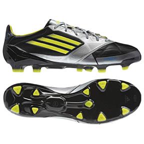 adidas F50 adiZero Leather TRX FG Soccer Shoes (Black/Lime)