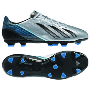 adidas F30 Leather TRX FG Soccer Shoes (Metallic Silver)