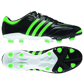 adidas adiPure 11Pro Leather TRX FG Soccer Shoes (Black/Green)