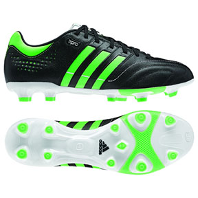 adidas 11Core Leather TRX FG Soccer Shoes (Black/Green)