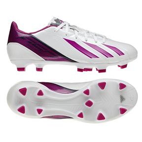 adidas Womens F10 TRX FG Soccer Shoes (White/Pink)