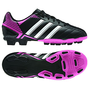 adidas Youth Puntero VIII TRX FG Soccer Shoes (Black/White/Pink)