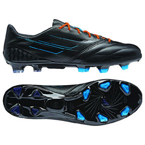 adidas  F50  adiZero  Leather TRX FG Soccer Shoes (Black/Orange)