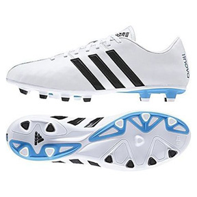 adidas 11Nova FG Soccer Shoes (White/Black/Blue)