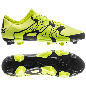 adidas  X 15.2 TRX FG Soccer Shoes (Solar Yellow/Black)