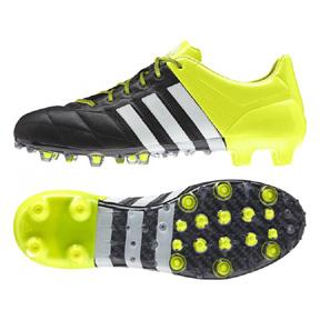 adidas ACE 15.1 Leather TRX FG Soccer Shoes (Black/Solar)