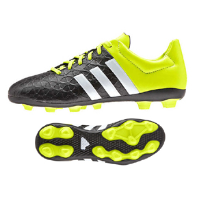 adidas Youth ACE 15.4 TRX FxG Soccer Shoes (Black/Yellow)