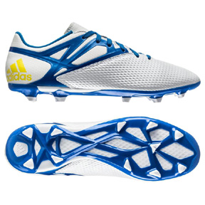 adidas Lionel Messi 15.3 TRX FG Soccer Shoes (White/Blue)
