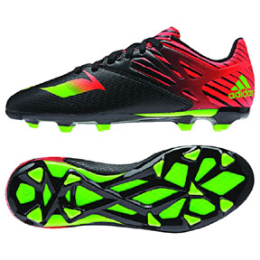 adidas Youth Lionel Messi 15.3 TRX FG/AG Soccer Shoes (Black)