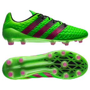adidas  ACE 16.1 FG/AG Soccer Shoes (Solar Green/Shock Pink)