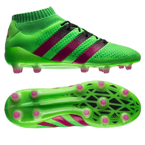 adidas  ACE 16.1 Primeknit FG/AG Soccer Shoes (Solar Green)