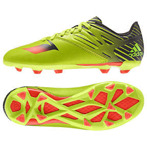 adidas Youth Lionel Messi 15.3 TRX FG/AG Soccer Shoes (Slime)
