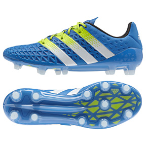 adidas  ACE 16.1 FG Soccer Shoes (Blue/Green)
