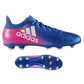 adidas   X 16.3 FG Soccer Shoes (Blue Blast/Shock Pink)