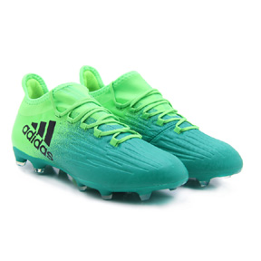 adidas   X  16.2 FG Soccer Shoes (Solar Green/Black)