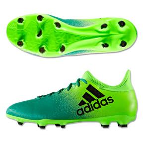 adidas   X  16.3 FG Soccer Shoes (Solar Green/Black)