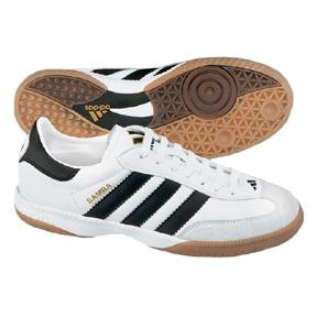 adidas Samba Millenium Indoor Soccer Shoes (White/Black)