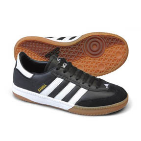 adidas Youth Samba Millenium Indoor Soccer Shoes (Black/White)