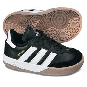 adidas Samba Millenium Infant Indoor Soccer Shoes (Black/White)