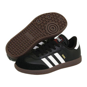 adidas Youth Samba Classic Indoor Soccer Shoes (Black/White)
