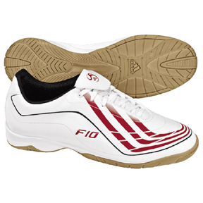 Adidas F10.9 Indoor Soccer Shoes (White/Red