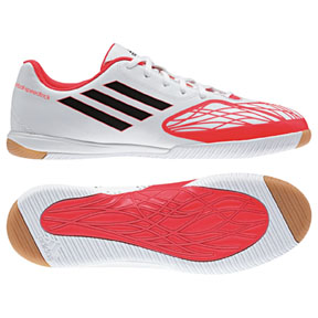 adidas FreeFootball SpeedTrick Indoor Soccer Shoes (White/Pop)