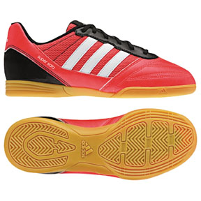 adidas Youth Super Sala Indoor Soccer Shoes (Pop/White)