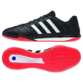 adidas  FreeFootball Top Sala Indoor Soccer Shoes (Black/Orange)