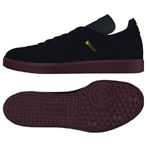 adidas Samba MC Indoor Soccer Shoes (Black/Black ...