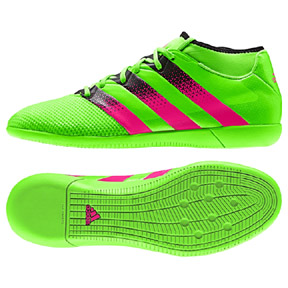 adidas  ACE 16.3 PrimeMesh Indoor Soccer Shoes (Solar Green)