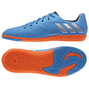 adidas Youth  Lionel Messi 16.3 Indoor Soccer Shoes (Blue/Orange)