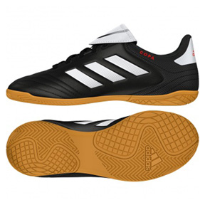 adidas Youth Copa 17.4 Indoor Soccer Shoes (Black/White)
