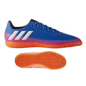 adidas Youth  Lionel Messi 16.3 Indoor Soccer Shoes (Blue/Warning)