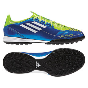 adidas F10 TRX Turf Soccer Shoes (Blue)