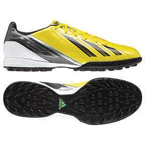 adidas F10 TRX Turf Soccer Shoes (Vivid Yellow/Black)