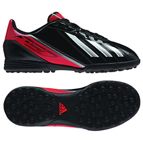 adidas Youth F5 TRX Turf Soccer Shoes (Black/White/Infrared)