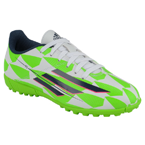 adidas Youth F5 TRX Turf (White/Bright Green)