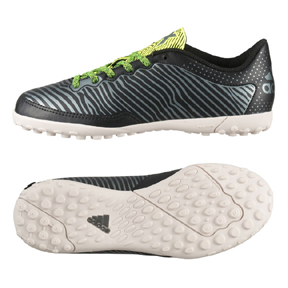 adidas Youth X15.3 Cage Turf Soccer Shoes (Black/Solar Yellow)
