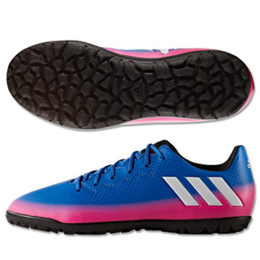 adidas Youth  Lionel Messi  16.3 Turf Soccer Shoes (Blue/Warning)